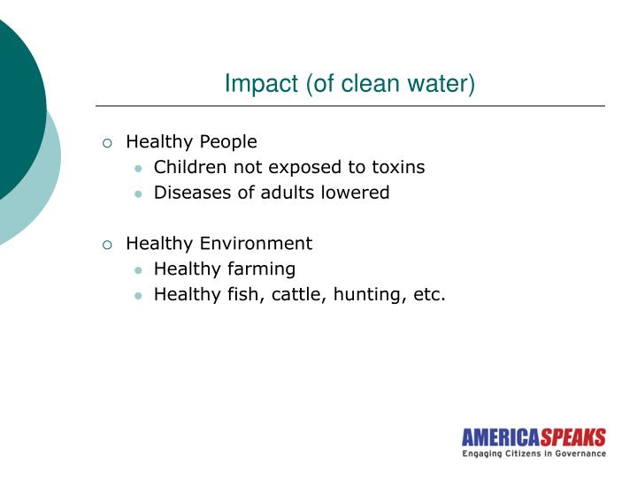 Impact (of clean water)