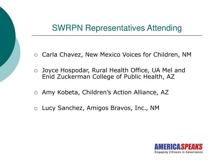SWRPN Representatives Attending