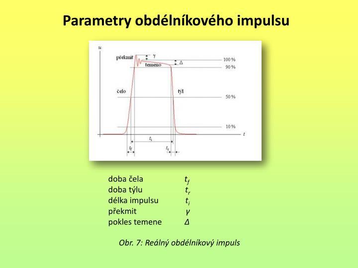 Parametry obdélníkového impulsu