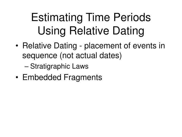 Estimating Time Periods Using Relative Dating