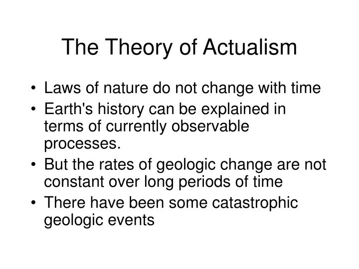 The Theory of Actualism