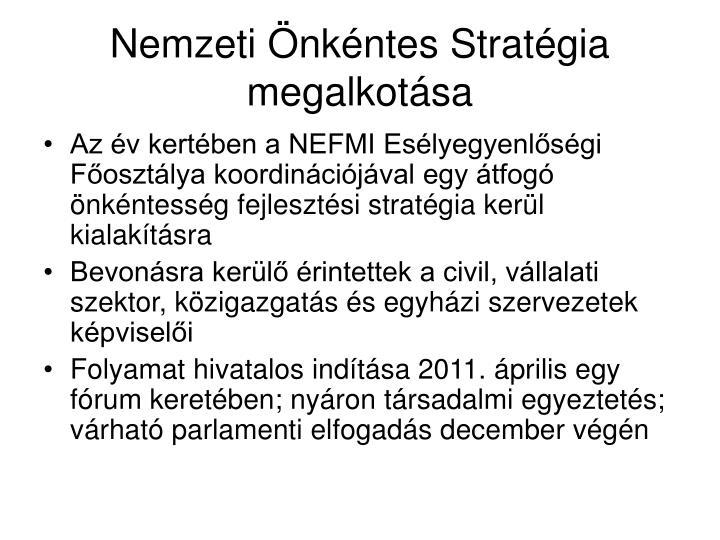Nemzeti Önkéntes Stratégia megalkotása