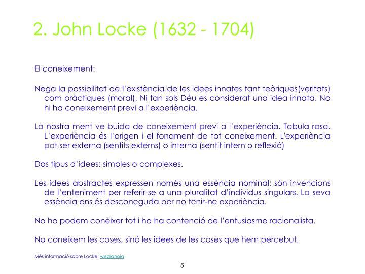 2. John Locke (1632 - 1704)