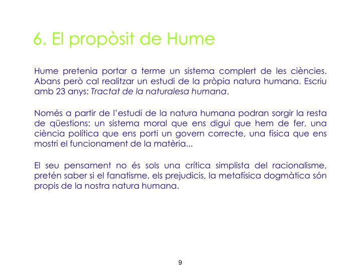 6. El propòsit de Hume