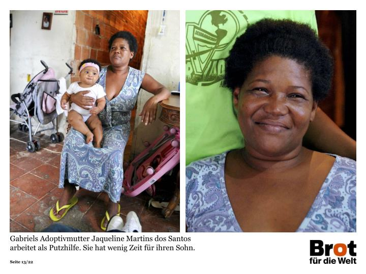 Gabriels Adoptivmutter Jaqueline Martins dos Santos