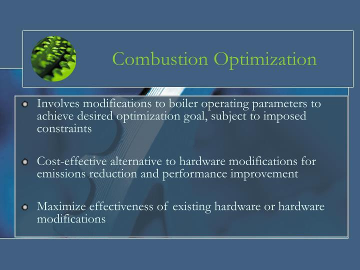 Combustion optimization