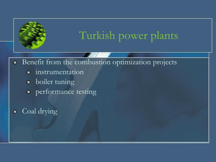 Turkish power plants