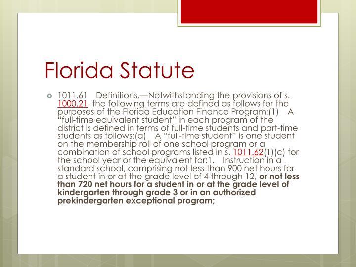 Florida Statute