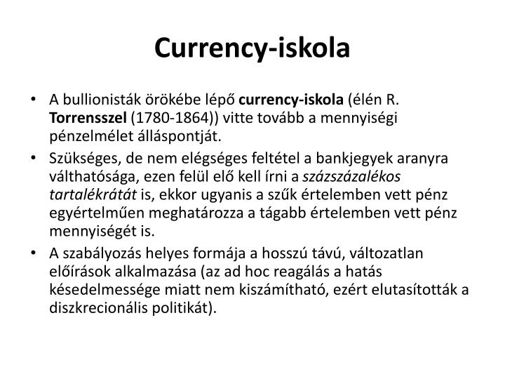 Currency-iskola