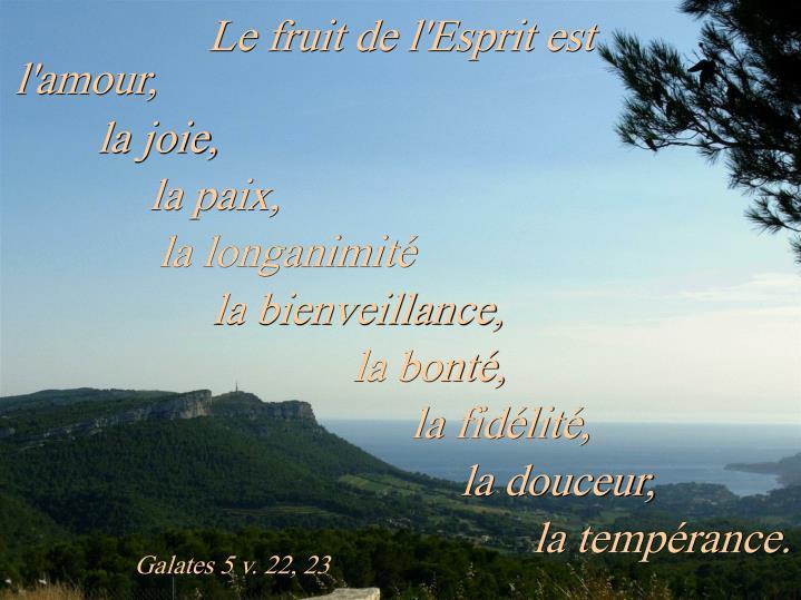 Galates 5 v. 22, 23