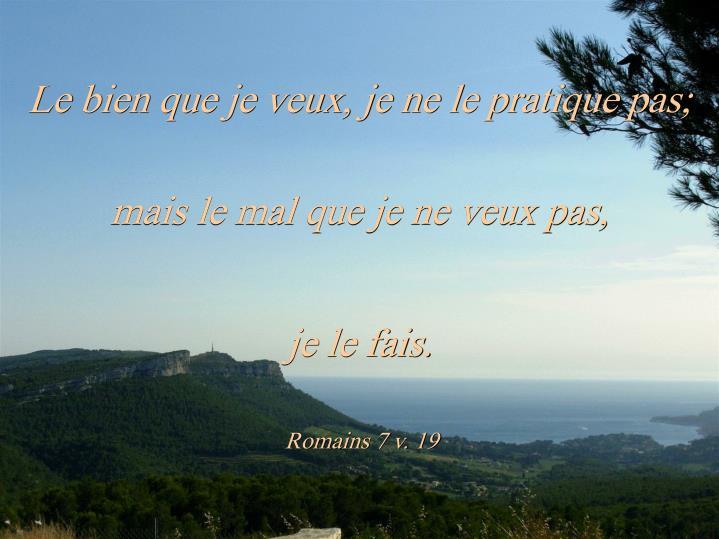 Romains 7 v. 19