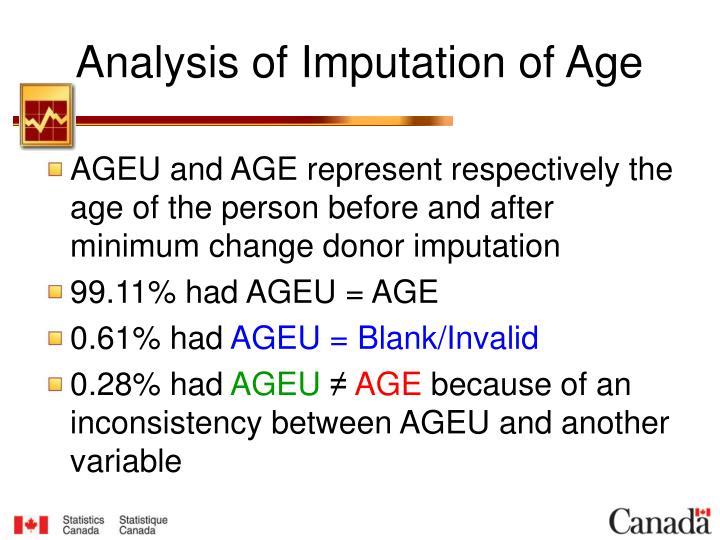 Analysis of Imputation of Age
