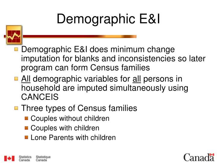 Demographic E&I