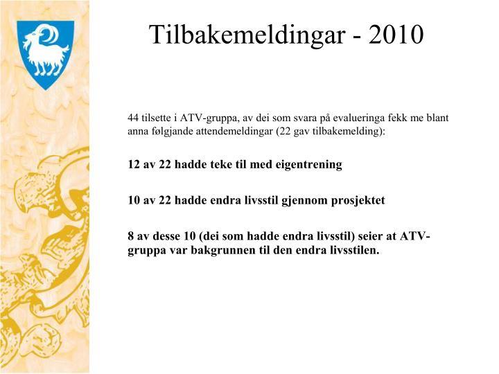 Tilbakemeldingar - 2010