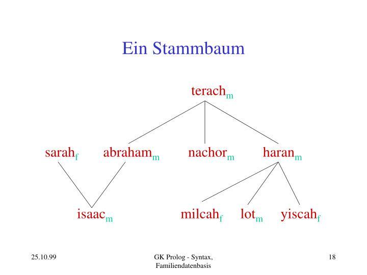 Ein Stammbaum