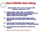 next finuda data taking