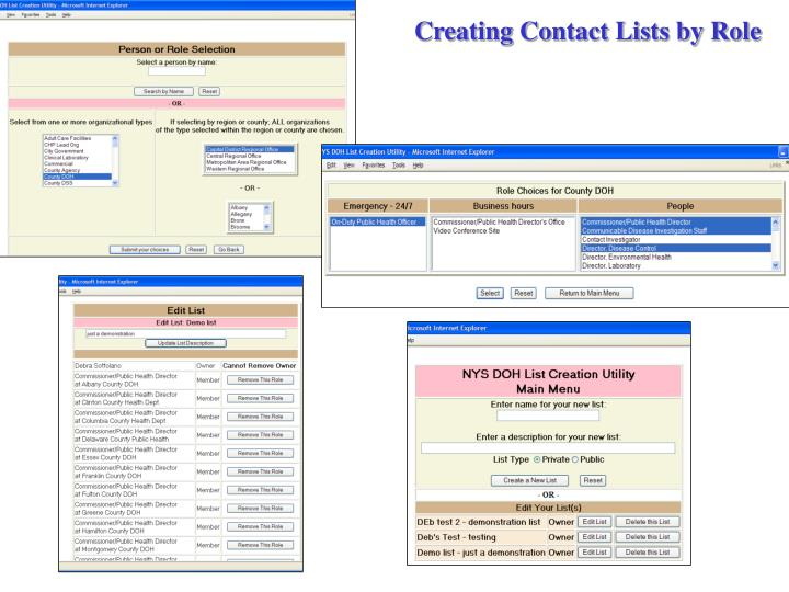 Creating Contact Lists by Role