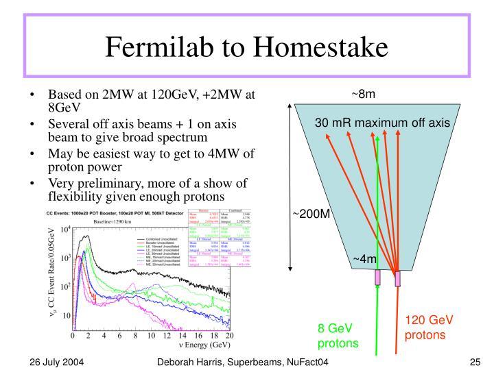 Fermilab to Homestake