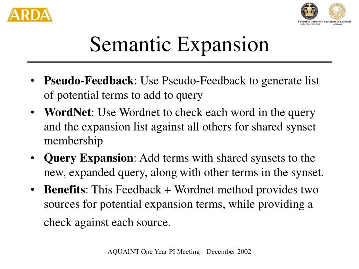 Semantic Expansion