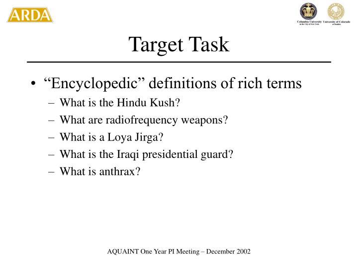 Target Task