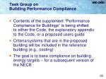 task group on building performance compliance