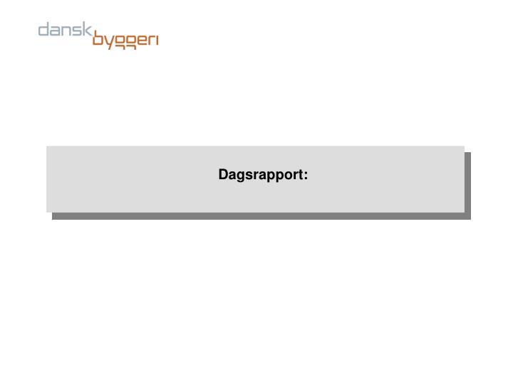 Dagsrapport: