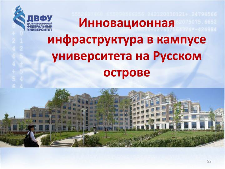 Инновационная инфраструктура в кампусе университета на Русском острове