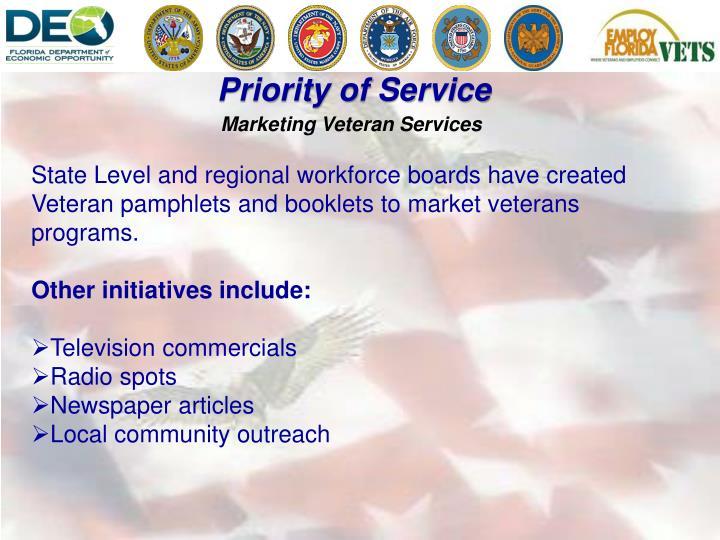 Marketing Veteran Services