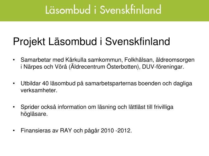 Projekt Läsombud i Svenskfinland