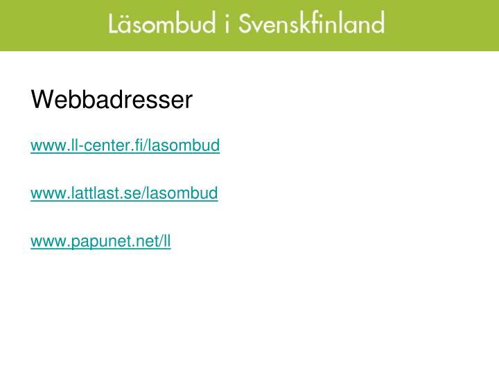 Webbadresser