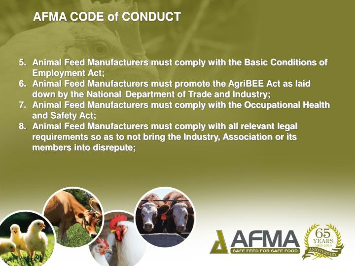 AFMA CODE of CONDUCT