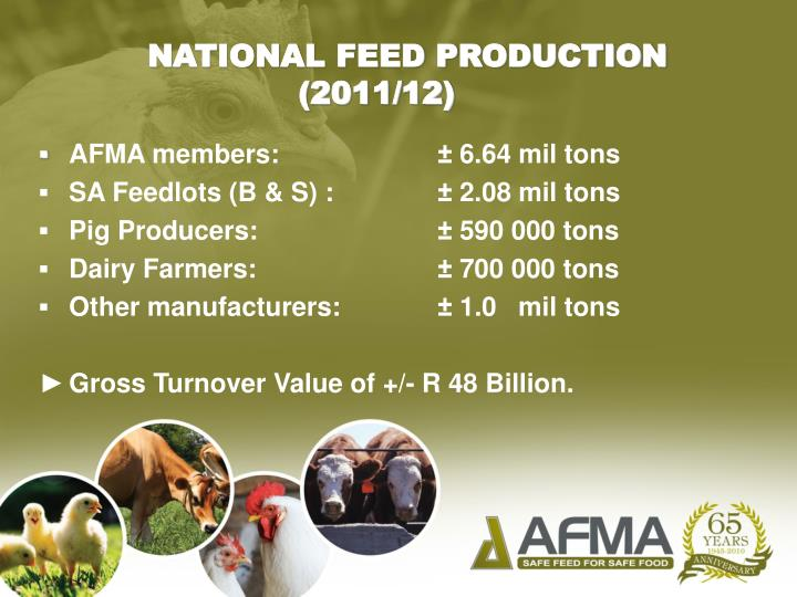 NATIONAL FEED PRODUCTION (2011/12)