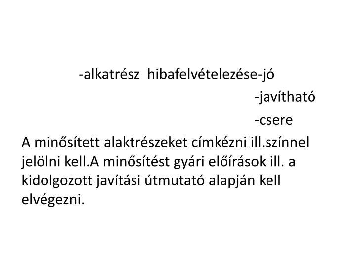 -alkatrész
