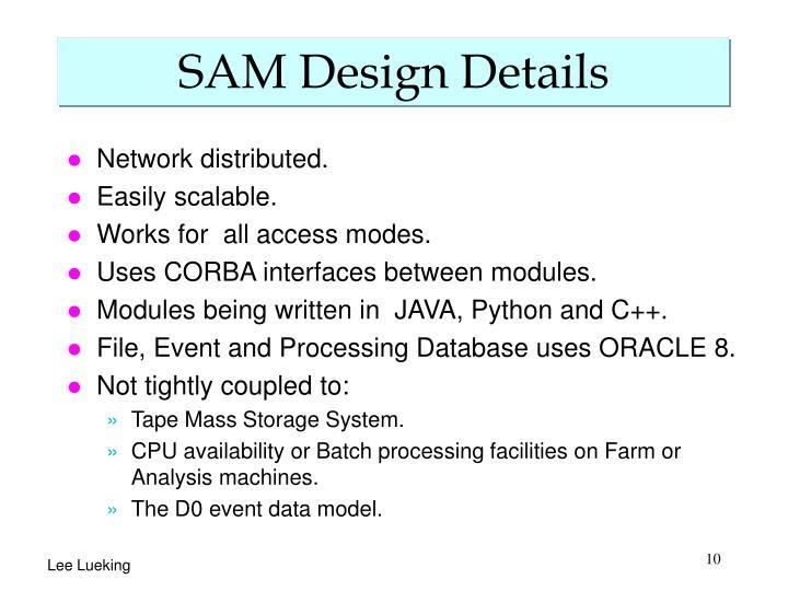 SAM Design Details