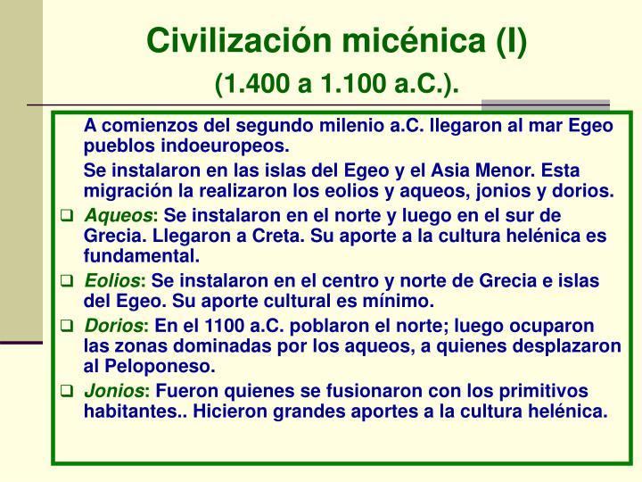 Civilización micénica (I)