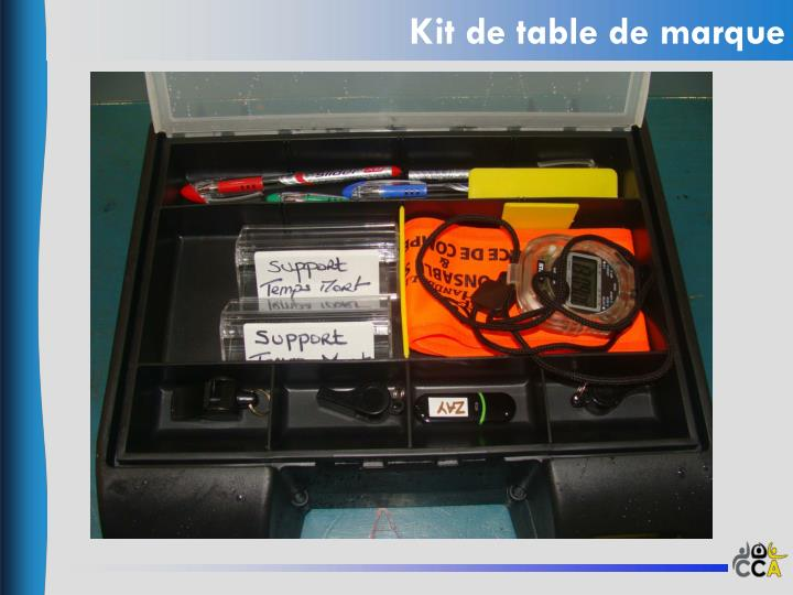 Kit de table de marque