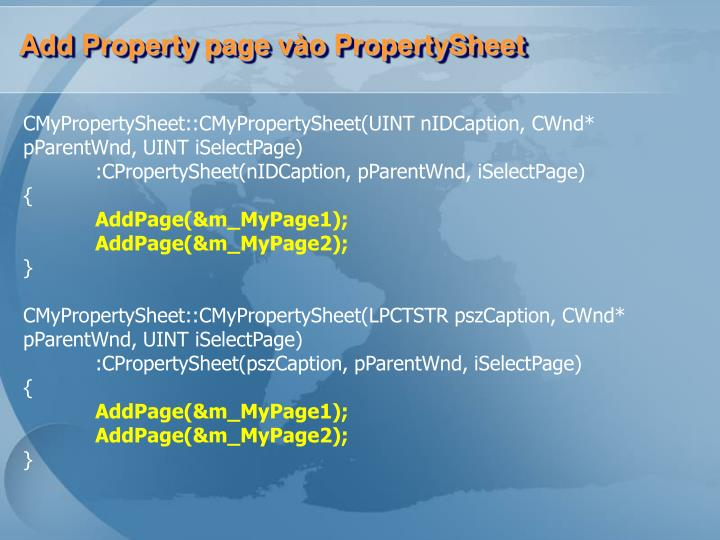 Add Property page