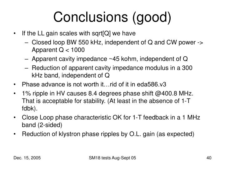 If the LL gain scales with sqrt[Q] we have