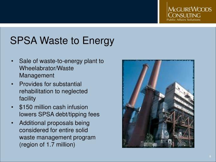 SPSA Waste to Energy