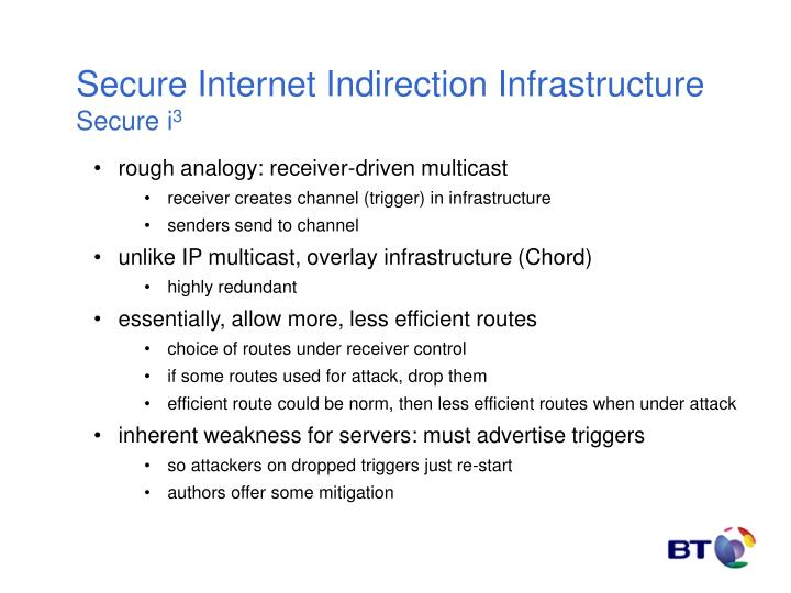 Secure Internet Indirection Infrastructure