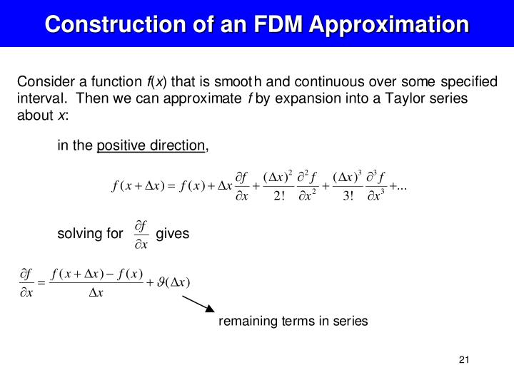 Construction of an FDM Approximation