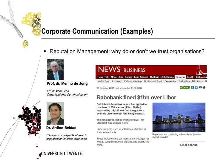 Corporate Communication (Examples)