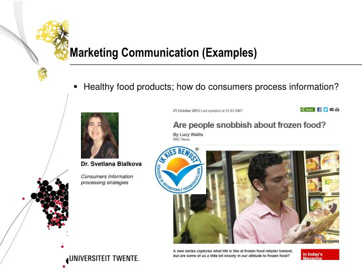 Marketing Communication (Examples)