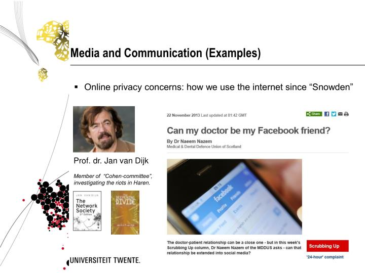 Media and Communication (Examples)