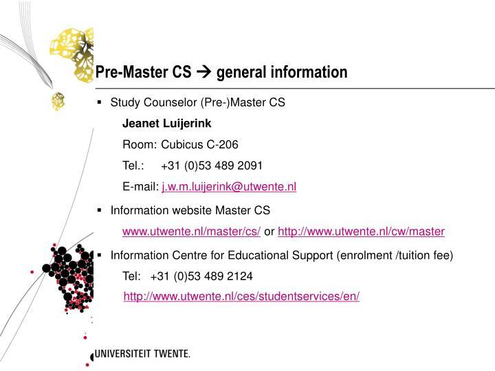 Pre-Master CS