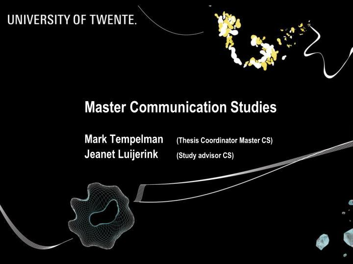 Master Communication Studies