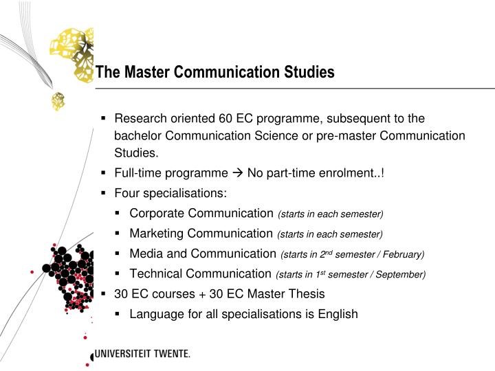 The Master Communication Studies