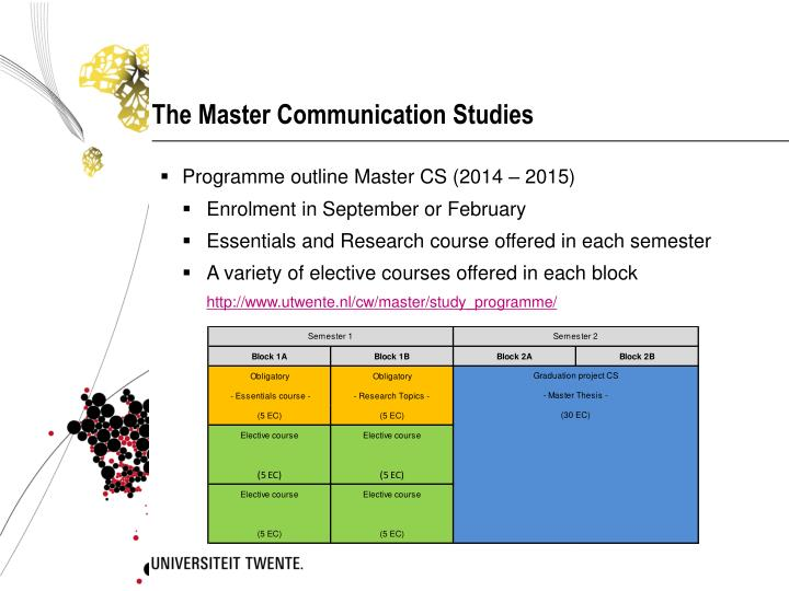 The master communication studies1