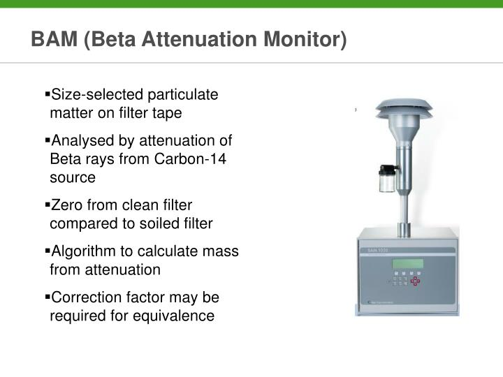 BAM (Beta Attenuation Monitor)