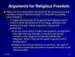 arguments for religious freedom1